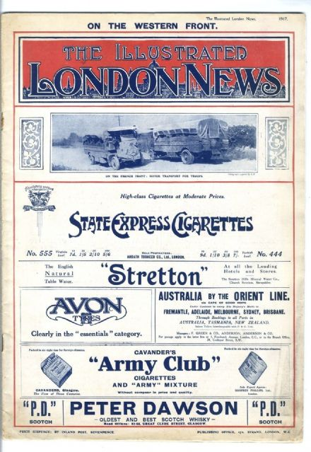 1917 ILLUSTRATED LONDON NEWS WW1 Newspaper COLLIERS Ruhleben POW Camp (8504)